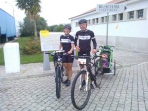 Wim en Isabelle aan de start van de Andalucia Bike Race